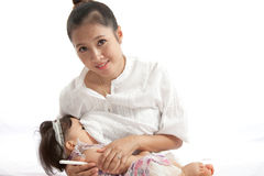 Mother is breast feeding for her baby Stock Image