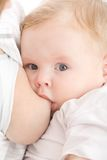Mother Breast Feeding Her Son Royalty Free Stock Photos