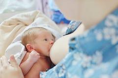 Mother breastfeeding baby Stock Photography