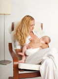 Mother breastfeeding Stock Photo