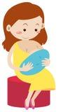 Mother breastfeeding newborn baby Stock Photography
