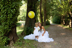 Mother bride  and daughter Stock Image