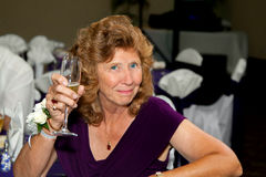 Mother Of The Bride Ready To Toast Royalty Free Stock Images