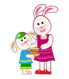Mother Bunny and Son Stock Photography