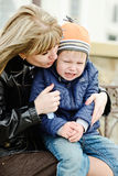 Mother calming son Stock Photography