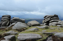 Mother cap, Hathersage. Rocks and bolders,peak district, countryside,Derbyshire,England Royalty Free Stock Images