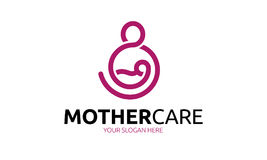 Mother Care Logo. Minimalist and modern mothethood template. Simple work and adjusted to suit your needs Royalty Free Stock Photography