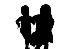 Mother and child. Mother sat down and hugged a child who is Vector Illustration