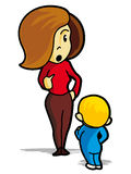 Mother and child. Mother exhorting their child - illustration Royalty Free Stock Images