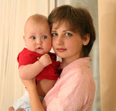 Mother with child. On the hands Stock Photo