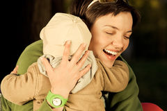 A mother and child Stock Photo