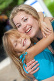 Mother and child. Portrait of a happy mother and her daughter Royalty Free Stock Photos