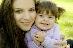 Mother and child. Full of happiness stock photo