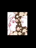 Mother and child. Color  illustration Royalty Free Stock Photo
