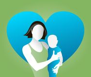 Mother and child. Vector illustration of mother and child Stock Photo