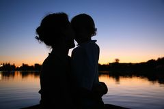Mother with the child stock photography
