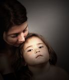 Mother and Child. Beautiful soft portrait of Mother and Child Royalty Free Stock Image