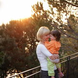 Mother and child. Love and tenderness between mother and child Royalty Free Stock Images