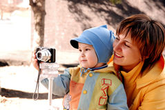 mother and child Stock Photography