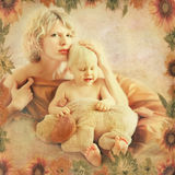 Mother and child. art portrait. stock images
