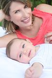 Mother and Child: Baby Boy Stock Images