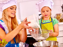 Mother and child baking cookies Stock Image