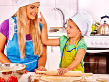 Mother and child baking cookies. Royalty Free Stock Photos