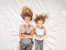 Mother with child in bedroom Royalty Free Stock Photo