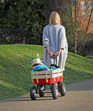 Mother and child in buggy Stock Images