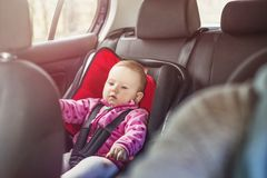 Mother and child in the car Stock Photography