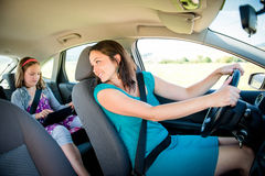 Mother and child in car Royalty Free Stock Photography