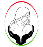 Mother and child care. A illustration of mother and child care Stock Images