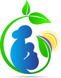 Mother and child care. A vector drawing represents mother and child care design stock illustration