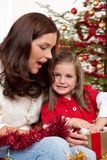 Mother with child on Christmas Royalty Free Stock Images