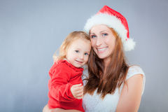Mother child christmas Stock Photography