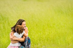 Mother and child embracing Royalty Free Stock Photo