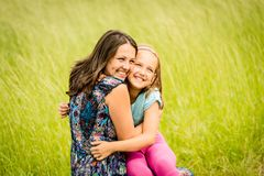 Mother and child embracing Royalty Free Stock Image