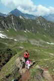 Mother and child family hiking Stock Photography