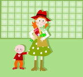 Mother and child grocery shopping Royalty Free Stock Photography