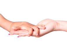 Mother child hand Royalty Free Stock Image