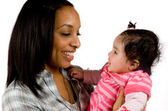 Mother and child have a fun. Family moments - Mother and child have a fun royalty free stock photo