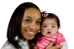 Mother and child have a fun. Family moments - Mother and child have a fun stock photography