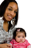 Mother and child have a fun. Family moments - Mother and child have a fun stock image
