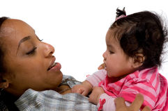 Mother and child have a fun. Family moments - Mother and child have a fun royalty free stock photos