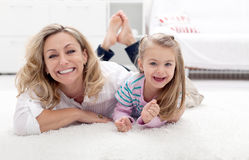 Mother and child having fun Stock Images