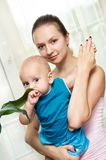 Mother and child in her hands Royalty Free Stock Image
