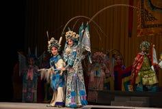 "Mother and child hero- Beijing Opera"" Women Generals of Yang Family"" Stock Image"