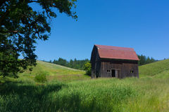 Red roof barn  Stock Image