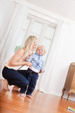 Mother and child at home Stock Photography