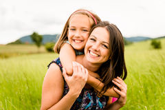 Mother and child hugging Stock Photography